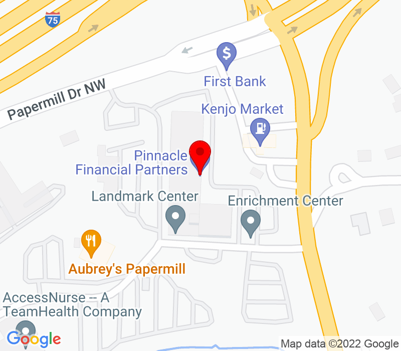 Click to view Google maps office address 1111 North Northshore Drive, Suite P-250, Knoxville, TN 37919