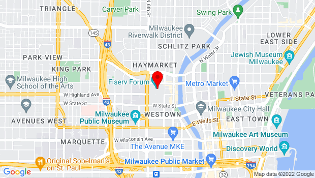 Google Map of 1111 Vel R Phillips Avenue, Milwaukee, WI 53203