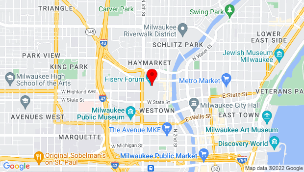 Google Map of 1111 Vel R. Phillips Ave, Milwaukee, WI 53203