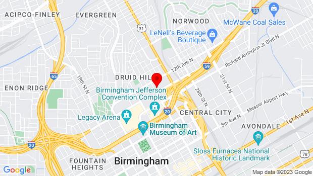 Google Map of 1111 24th St N,, Birmingham, AL 35234
