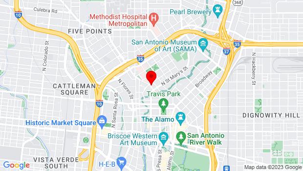 Google Map of 1111 Navarro St., San Antonio, TX 78205