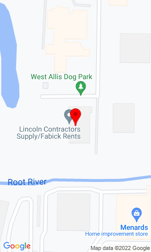 Google Map of Lincoln Contractors Supply Inc 11111 West Hayes Avenue P.O. Box 270168, Milwaukee, WI, 53227