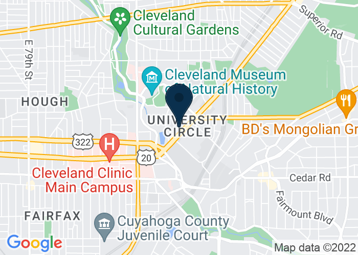 Map of 11111 Euclid Avenue, Cleveland, OH 44106, United States