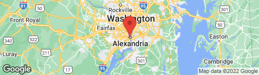 Map of 1112 King Street Alexandria, VA 22314