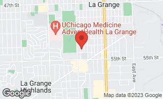 Map of 1117 South Stone Avenue LA GRANGE, IL 60525