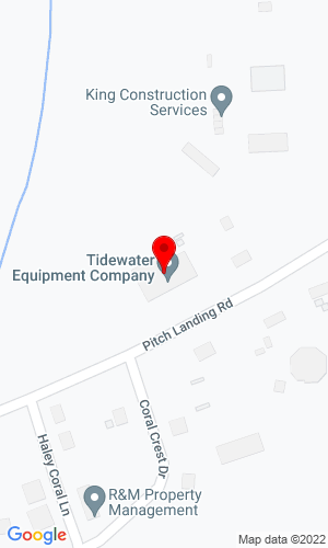 Google Map of Tidewater Equipment Company Inc. 1118 Pitch Landing Road, Conway, SC, 29527