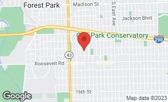 Map of 1119 Home Avenue OAK PARK, IL 60304