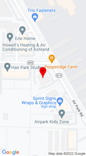 Google Map of Dominion Equipment Parts, LLC 11191 Air Park Road, Ashland, VA, 23005