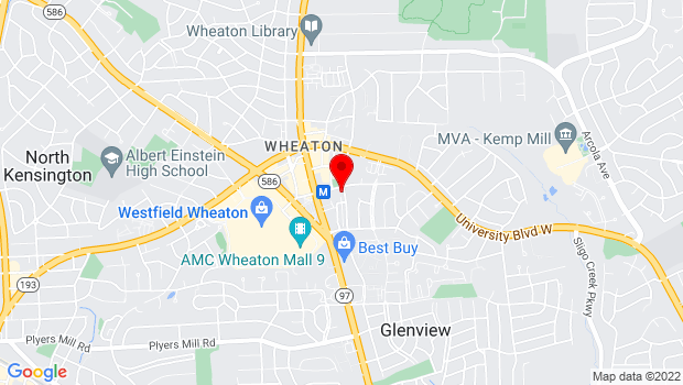 Google Map of 11200 Amherst Avenue Wheaton, MD 20902