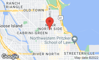 Map of 1122 North Clark Street #3401 CHICAGO, IL 60610