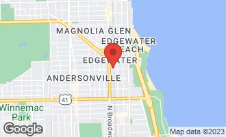 Map of 1122 West Catalpa Avenue #708 CHICAGO, IL 60640