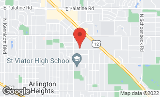 Map of 1124 East Olive Street ARLINGTON HEIGHTS, IL 60004