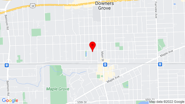 Google Map of 1125 Franklin Street, Downers Grove, IL 60515