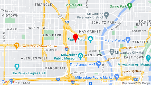 Google Map of 1128 N 9th Street, Milwaukee, WI 53233