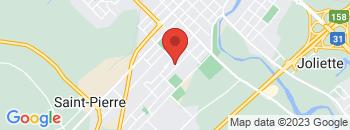 Google Map of 1128+Rue+Piette%2CJoliette%2CQuebec+J6E+3V8