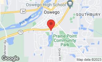 Map of 113 Prairieview Court OSWEGO, IL 60543