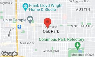 Map of 113 South Elmwood Avenue OAK PARK, IL 60302