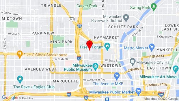 Google Map of 1130 N 9th St, Milwaukee, WI 53233, Milwaukee, WI 53233