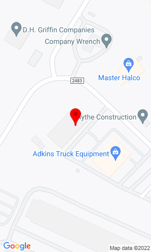 Google Map of Adkins Truck Equipment Company 11300 Reames Road, Charlotte, NC, 28269
