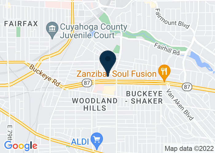 Map of 11327 Shaker Blvd, Cleveland, Cleveland, OH 44104, United States