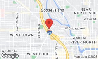 Map of 1133 West Chicago Avenue 2SW Oak Park, IL 60302
