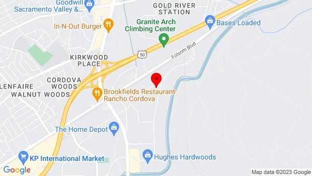 Google Map of 11370 Trade Center Drive, Rancho Cordova, CA 95742