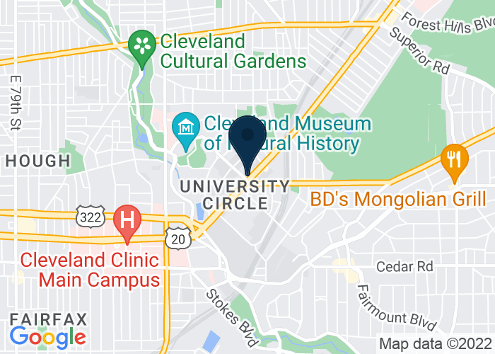 Map of 11409 Euclid Ave, Cleveland, OH 44106, United States