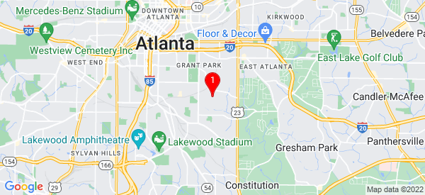 Google Map of 1144 Avondale AveSe Atlanta, GA