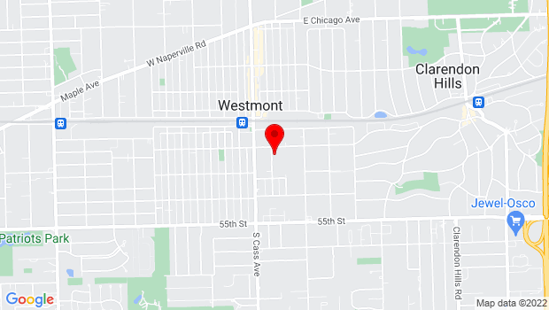 Google Map of 115 S. Linden Ave., Westmont, IL 60559