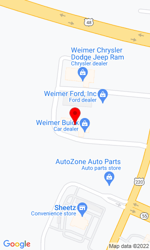 Google Map of Weimer Chevrolet Buick GMC 1151 US Hwy 220 N, Moorefield, WV, 26836