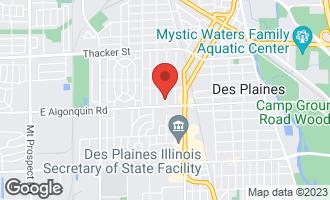 Map of 1152 Margret Street DES PLAINES, IL 60016