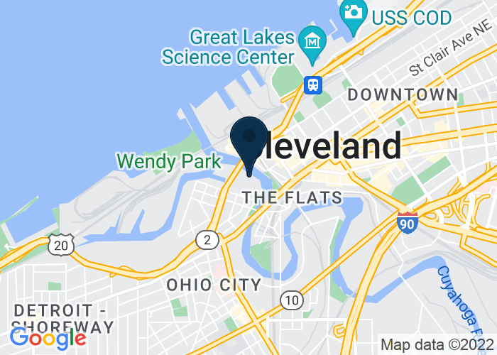 Map of 1153 Main Ave., Cleveland, OH 44106, United States
