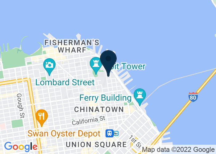 Map of 1155 Battery St., San Francisco, CA 94111, United States