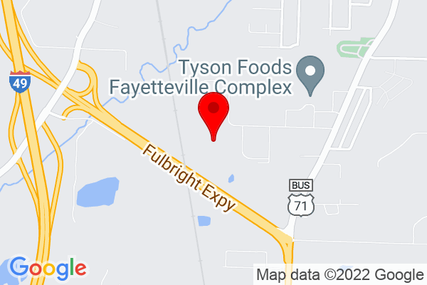 Google Map of 1155 W Clydesdale Dr, Fayetteville, AR 72701