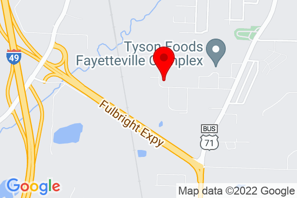 Google Map of 1080 W Clydesdale Dr