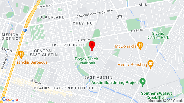 Google Map of 1156 Hargrave St, Austin, TX 78702, Austin, TX 78702