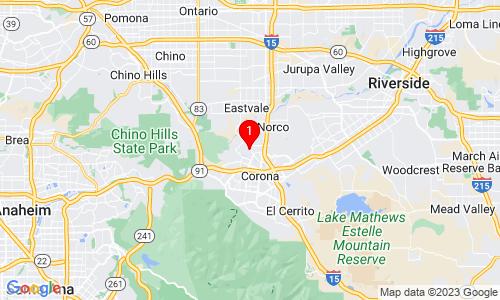 Google Map of 1159 Neatherly Circle Corona, CA, 92880