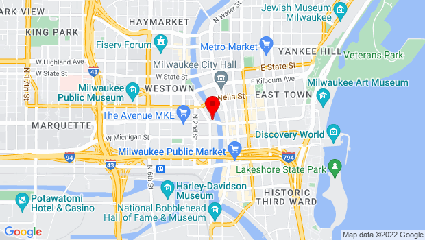 Google Map of 116 W. Wisconsin Avenue, Milwaukee, WI 53203