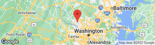 Map of 11605 PARSIPPANY TERRACE NORTH POTOMAC, MD 20878