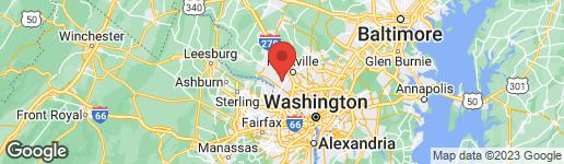 Map of 11629 TWINING LANE POTOMAC, MD 20854