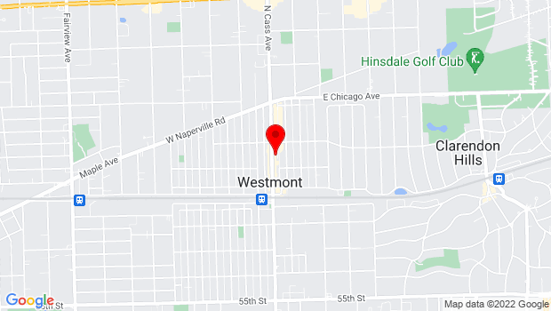 Google Map of 117 North Cass Avenue, Westmont, IL 60559