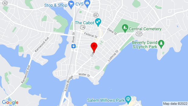 Google Map of 117 Cabot Street, Beverly, MA 01915