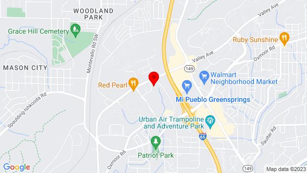 Google Map of 117 south crest drive, Birmingham, AL