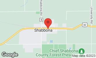 Map of 117 West Comanche Avenue 115-117 SHABBONA, IL 60550