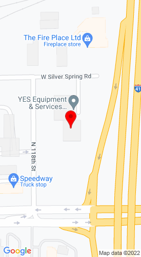 Google Map of YES JCB 11715 W. Silver Spring Road+Milwaukee+WI+53225