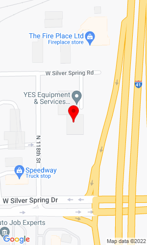 Google Map of YES JCB 11715 W. Silver Spring Road, Milwaukee, WI, 53225
