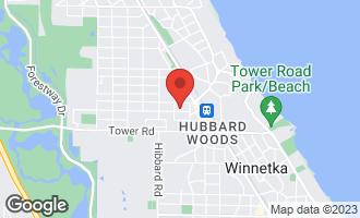 Map of 1173 Asbury Avenue WINNETKA, IL 60093