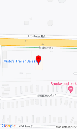 Google Map of Vistos Trailer Sales 1175 Main Ave E, West Fargo, ND, 58078