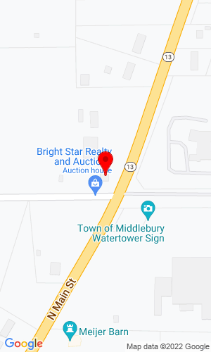 Google Map of Bright Star Realty and Auctions 11751 CR 12, Middlebury, IN, 46540