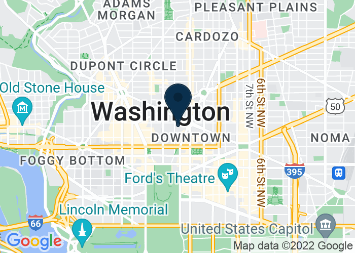 Map of 1177 15th St. NW, Washington, DC 20005, United States